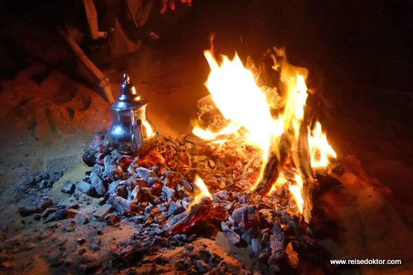Lagerfeuer Zeltnacht Marokko