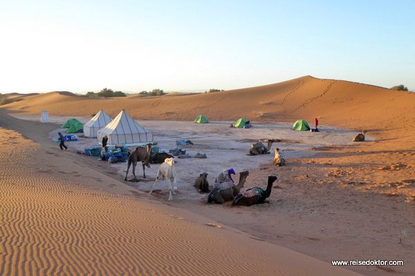 Marokko Wüste Camping