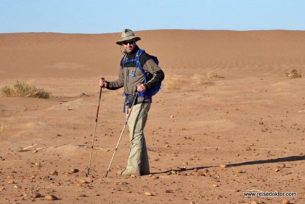 Marokko Wüste Wanderung Ausrüstung