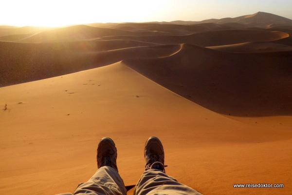 Sonnenuntergang in der Sandwüste