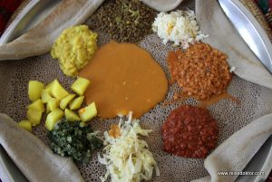 Injera in Äthiopien