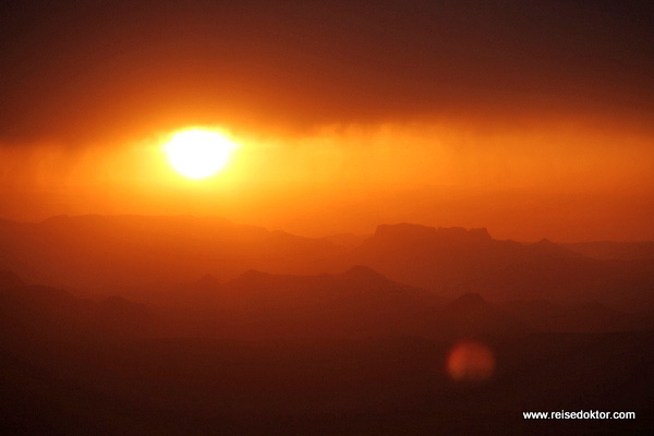 Sonnenuntergang in Lalibela