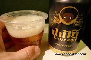 Äthiopisches Bier an Board