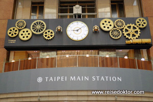 Bahnhof in Taipeh
