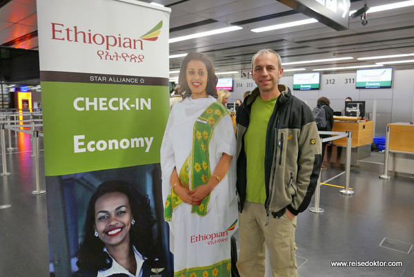 Ethiopian Airlines Check-in Wien