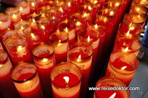 Kerzen Tianhou Tempel