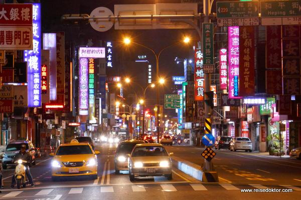 Taiwan: Abends in Tainan