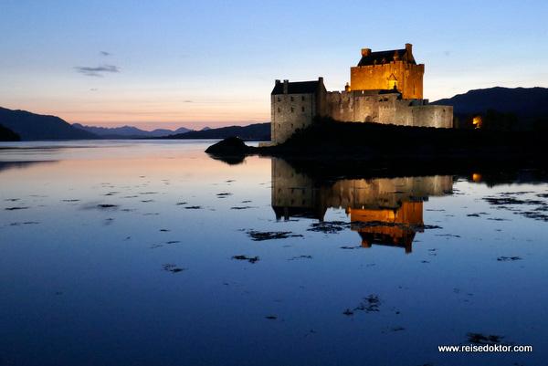 Eilean Donan Castle Sonnenuntergang