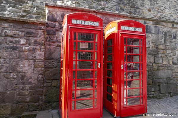 Telefonzelle in Edinburgh