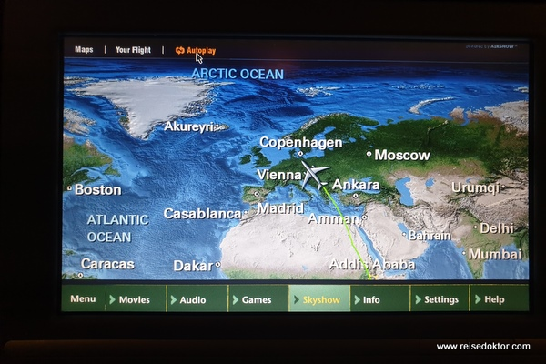 Ethiopian Airlines Bordprogramm