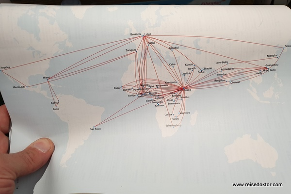 Ethiopian Airlines Streckennetz